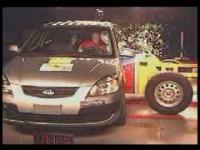 Краш-тест Kia Rio от EuroNCAP - Боковой удар