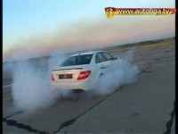 Mercedes C 63 AMG тест на военном аэродроме