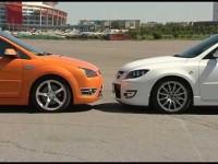 Тест драйв Ford Focus ST против Mazda 3 MPS от БиБи