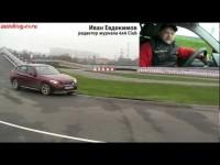 Тест BMW X1 на полигоне