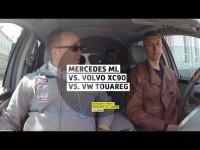 Сравнительный тест-драйв Mercedes ML, Volvo XC90 и Volkswagen Touareg