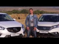 Сравнительный тест-драйв Mazda CX-5 и Honda CR-V от Игоря Бурцева