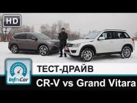 Сравнительный тест-драйв Honda CR-V 2.4 и Suzuki Grand Vitara 2.4