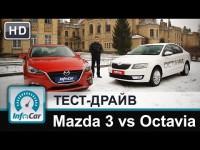 Сравнительный тест-драйв Mazda 3 и Skoda Octavia от InfoCar.ua