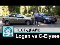 Сравнительный тест драйв Renault Logan и Citroen C-Elysee от InfoCar.ua