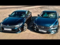 Сравнительный тест-драйв Mazda 6 и KIA Optima GT от канала ClickonCar