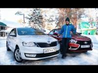 Сравнительный видео тест-драйв Lada Vesta и Skoda Rapid от Игоря Бурцева