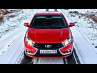 Видео тест-драйв Lada Vesta от канала ClickonCar