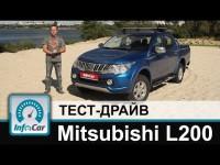 Видео тест-драйв Mitsubishi L200 на канале Infocar