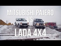 Видео тест-драйв новой Lada 4x4 и поддержанного Mitsubishi Pajero от канала Колёса.ру
