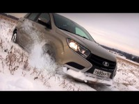 Зимний видео тест-драйв Datsun mi-Do, Lada Vesta и Lada Xray от канала