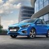 Hyundai Solaris 2017 голубого цвета