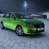 Lada Vesta в зеленом цвете