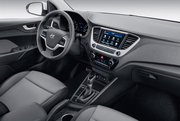 Hyundai Solaris интерьер