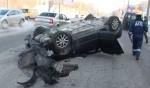 В Волгограде перевернулась Mazda