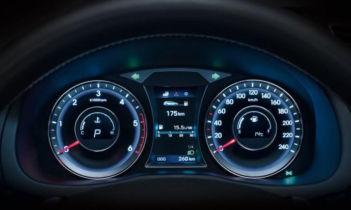 Hyundai i40 панель приборов
