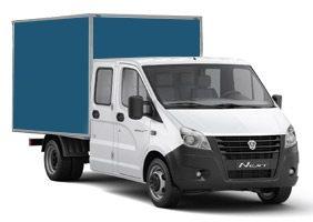 ГАЗель NEXT изотермический фургон со сдвоенной кабиной