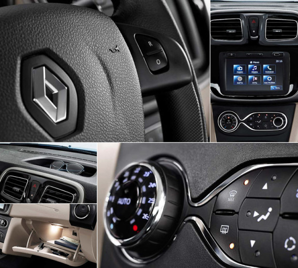 Renault Logan панель приборов