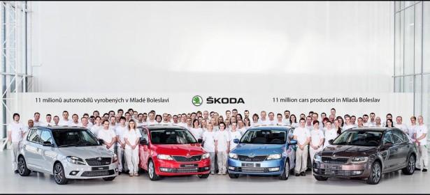 Skoda отмечает выпуск 11-миллионого автомобиля