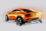 Concept Coupe SUV; Designskizze; design sketch