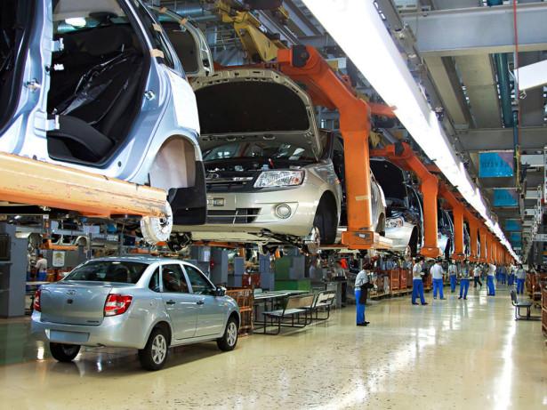 завод автоВАЗ - производство Lada Granta