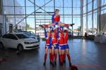 Футбольная вечеринка в автосалоне Volkswagen Волга-Раст