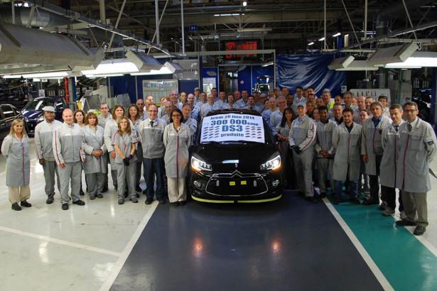 Citroen произвел 300 000-й DS 3 во Франции
