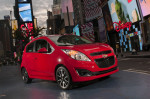 Chevrolet Spark drives through the streets of New York City