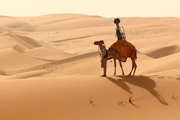 Google съемка пустыни верблюд Фото 01
