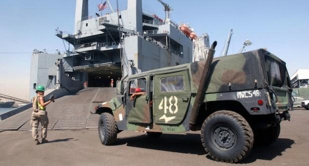 Marine Humvee