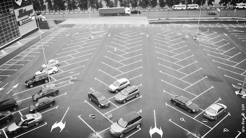 парковка Елочка