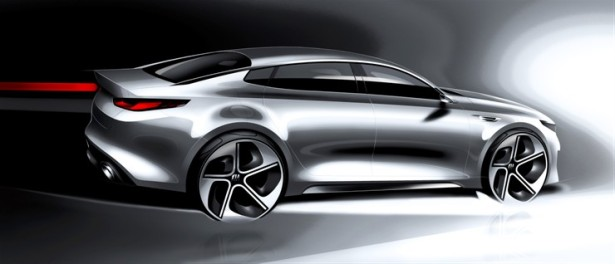 All-new Kia Optima midsize rendering.