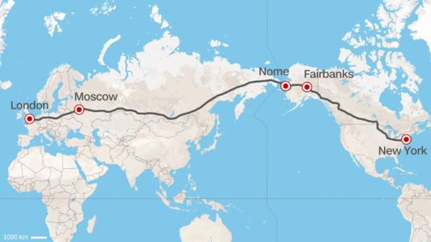 супермагистраль от Лондона до Нью-Йорка