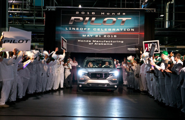 2016 Honda Pilot на заводе в США
