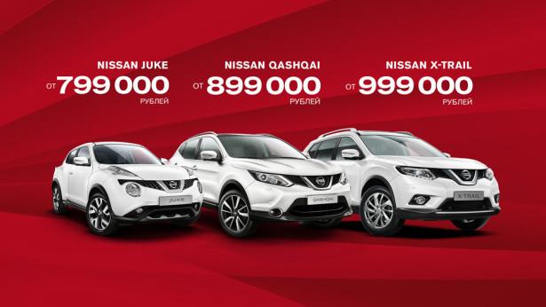 Новые цены на кроссоверы Nissan
