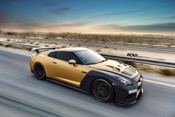 Nissan GT-R в карбоне и золоте 2015 Фото 29