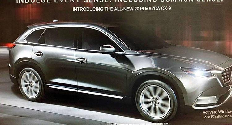 Mazda внешность кроссовера CX9 за три дня до премьеры