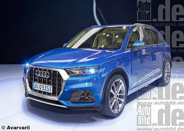 Audi показала внешность рестайлингового кроссовера Q5