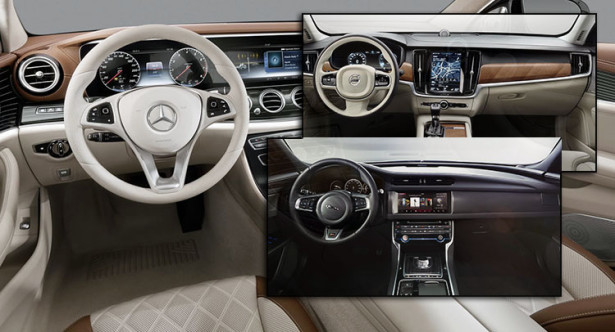 Новые E-Class, Volvo S90 и Jaguar XF