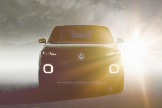 Volkswagen приоткрыл внешний вид нового компактного кроссовера