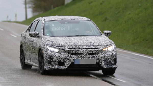 Honda вывела на тесты серийный хэтчбэк Civic
