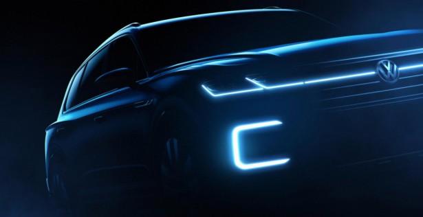 VW показал тизеры нового современного внедорожника