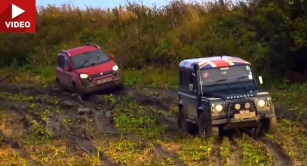Fiat Panda побить Land Rover Defender