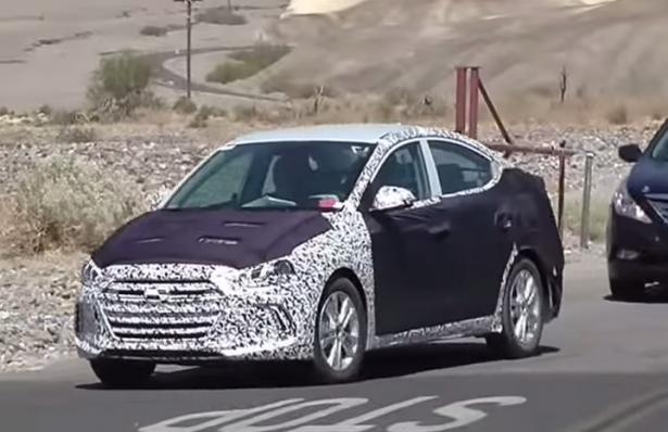 Hyundai Elantra новой генерации тестируют на китайских дорогах