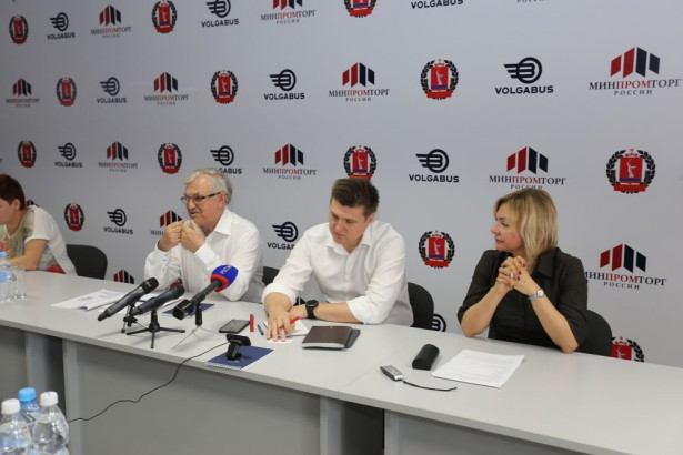 Пресс-конференция на заводе VOLGABUS в Волжском