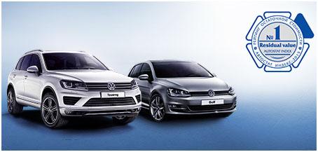 Volkswagen Touareg и Volkswagen Golf