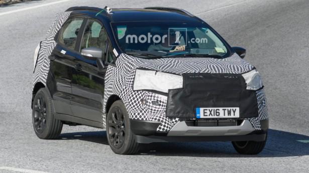 Ford EcoSport последней генерации вышел на тестовые заезды