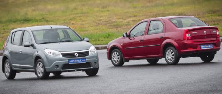 изображения новых Renault Logan и Sandero появились в Сети