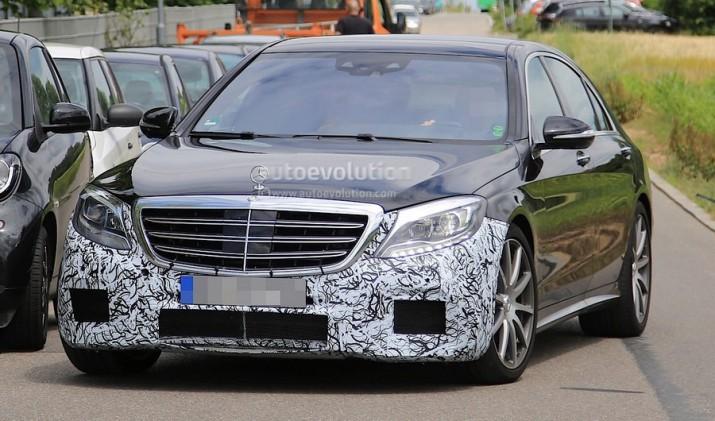 заряженный Mercedes-AMG S63 засветился на видео