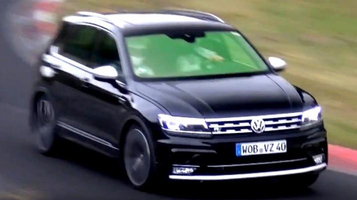 Volkswagen вывел на тесты R-модификацию кроссовра Tiguan